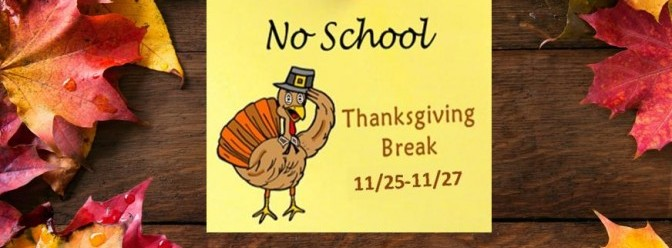 Thanksgiving No School COC Kid's Camp Starts 11/23 & 11/25 - Victor, NY