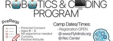 Summer Beginners Programming and Robotics Camp ( Ages 8-11)