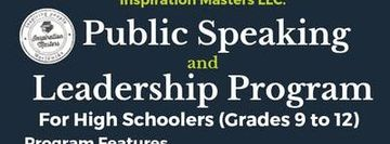 High Schoolers Public Speaking and Leadership Program in Plano